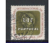 1965 - LOTTO/9805AU - PORTOGALLO - 1e. U.I.T. - USATO