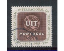 1965 - LOTTO/9805BU - PORTOGALLO - 3,50e. U.I.T - USATO