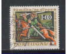 1966 - LOTTO/9813AU - PORTOGALLO - 1e. CITTA' DI EVORA - USATO