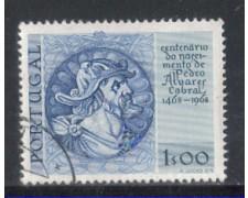 1969 - LOTTO/9830AU - PORTOGALLO - 1e. A.CABRAL - USATO
