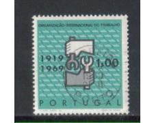 1969 - LOTTO/9833AU - PORTOGALLO - 1e. O.I.L. - USATO