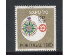 1970 - LOTTO/9842AU - PORTOGALLO - 1e. EXPO 70 - USATO