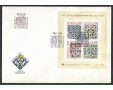 1981 - LOTTO/PORBF34FD - PORTOGALLO - MAIOLICHE FOGLIETTO - FDC