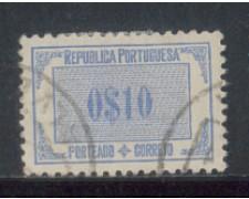 1933 - LOTTO/PORST50U - PORTOGALLO - 10c. SEGNATASSE - USATO