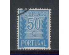 1940 - LOTTO/PORTS63U - PORTOGALLO - 50c. SEGNATASSE - USATO