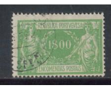 1920 - LOTTO/PORP12U - PORTOGALLO - 1e. PACCHI - USATO