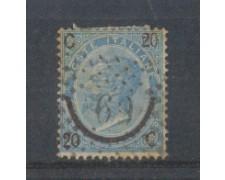 1865 - LOTTO/REG23UA - REGNO - 20c. su 15c. I° TIPO - USATO