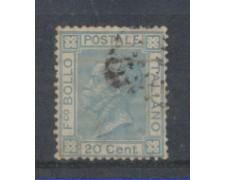 1867 - LOTTO/REGL26U - REGNO - 20c.CELESTE - TIR.LONDRA - USATO