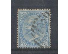 1877 - LOTTO/REG27U - REGNO - 10c. AZZURRO - USATO