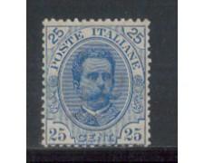 1891 - LOTTO/REG62L - REGNO - 25c. RE UMBERTO - T/L.