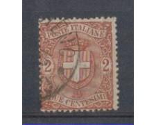 1896 - LOTTO/REG66U - REGNO - 2c. STEMMA - USATO