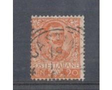 1901 - LOTTO/REG72U - REGNO - 20c. ARANCIO FLOREALE - USATO