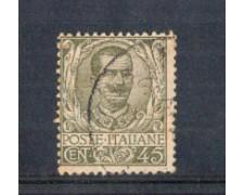 1901 - LOTTO/REG75U - REGNO - 45c. OLIVA FLOREALE - USATO