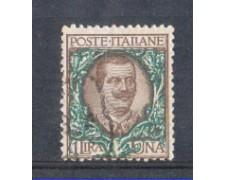 1901 - LOTTO/REG77U - REGNO - 1 LIRA FLOREALE - USATO