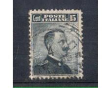 1906 - LOTTO/REG80U - REGNO - 15c. GRIGIO  I° TIPO - USATO