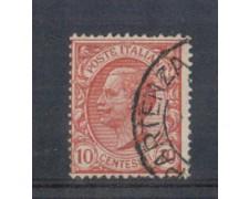 1906 - LOTTO/REG82U - REGNO - 10c. ROSA - USATO