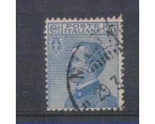 1908 - LOTTO/REG83U - REGNO - 25c. AZZURRO - USATO