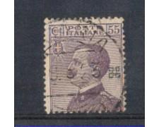 1917/20 - LOTTO/REG110U - REGNO - 55c. VIOLETTO - USATO
