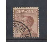 1917/20 - LOTTO/REG112U - REGNO - 85c. BRUNO ROSSO - USATO