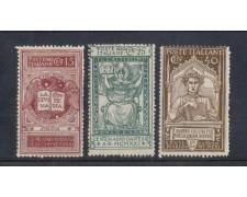 1921 - LOTTO/REG118CPL - REGNO - DANTE ALIGHIERI 3v. T/L