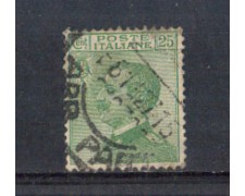1927 - LOTTO/REG219U - REGNO - 25c. VERDE EFFIGE - USATO
