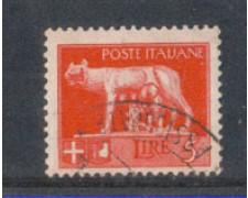 1929 - LOTTO/REG257U - REGNO - 5 LIRE IMPERIALE - USATO