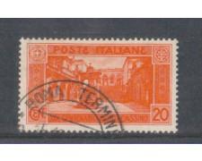 1929 - LOTTO/REG262U - REGNO - 20c. MONTECASSINO - USATO