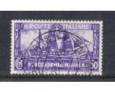 1931 - LOTTO/REG301U - REGNO - 50c. ACCADEMIA NAVALE - USATO