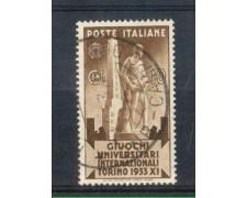 1933 - LOTTO/REG341U - REGNO - 10c. GIUOCHI UNIVERSITARI - USATO
