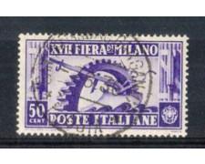 1936 - LOTTO/REG396U - REGNO - 50c. FIERA DI MILANO - USATO