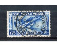 1936 - LOTTO/REG397U - REGNO -1,25 L. FIERA DI MILANO - USATO