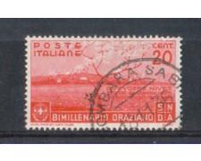 1936 - LOTTO/REG399U - REGNO - 20c. BIMILLENARIO ORAZIO - USATO
