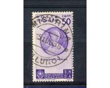 1936 - LOTTO/REG401U - REGNO - 50c. BIMILLENARIO ORAZIO - USATO