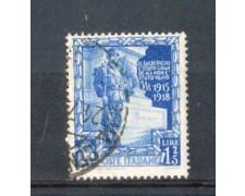 1938 - LOTTO/REG445U - REGNO - 1,25L. PROCLAM.IMPERO - USATO