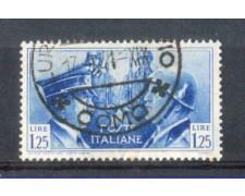 1941 - LOTTO/REG457U - REGNO - 1,25L. FRATELLANZA - USATO