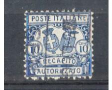 1928 - LOTTO/ REGCAP1U - REGNO - 10c. RECAPITO - USATO