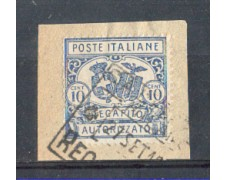 1928 - LOTTO/REGCAP2U - REGNO - 10c. RECAPITO II° - USATO
