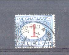 1890 - LOTTO/REGT27U - REGNO - 1 LIRA SEGNATASSE - USATO