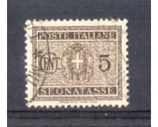 1934 - LOTTO/REGT34U - REGNO - 5c. SEGNATASSE - USATO