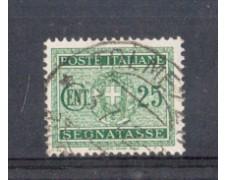 1934 - LOTTO/REGT37U - REGNO - 25c. SEGNATASSE - USATO