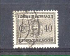 1934 - LOTTO/REGT39U - REGNO - 40c. SEGNATASSE - USATO