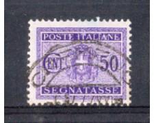 1934 - LOTTO/REGT40U - REGNO - 50c. SEGNATASSE - USATO