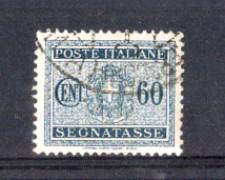 1934 - LOTTO/REGT41U - REGNO - 60c. SEGNATASSE - USATO