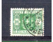 1934 - LOTTO/REGT43U - REGNO - 2 LIRE SEGNATASSE - USATO