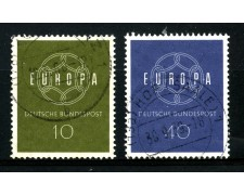 1959 - GERMANIA FEDERALE - EUROPA 2v. - USATI - LOTTO/30845U