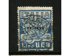 1923 - ERITREA - 1 LIRA MARCIA SU ROMA - USATO - LOTTO/31636