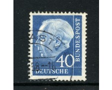 1957 - GERMANIA FEDERALE - 40p. AZZURRO HEUSS - USATO - LOTTO/30800U