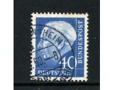 1957/60 - GERMANIA FEDERALE - 40p. PRESIDENTE HEUSS CARTA FLUORESCENTE - USATO - LOTTO/30801