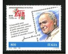 1998 - REPUBBLICA - GIORNATA DELLA FILATELIA PAPA G.PAOLO II° - NUOVO - LOTTO/7208