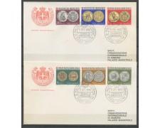 1970 - SOVRANO MILITARE DI MALTA - ANTICHE MONETE - 2 BUSTE FDC - LOTTO/30399